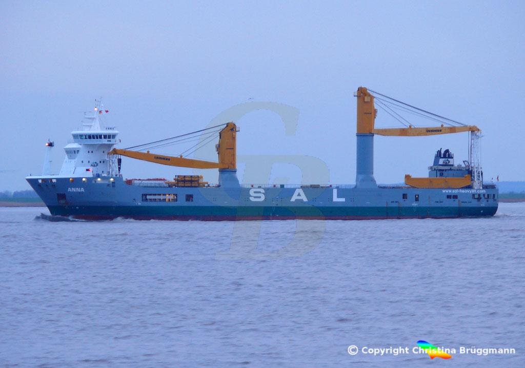 SAL Heavy Lift Schwergutfrachter ANNA, Elbe 30.01.2019,  BILD 3