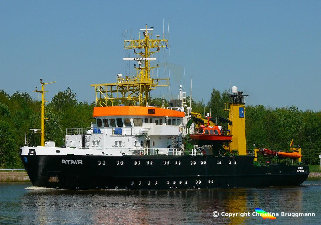 Vermssungs- Wrachsuch- u. Forschungsschiff ATAIR, Nord-Ostsee Knal 09.05.2019, BILD 3