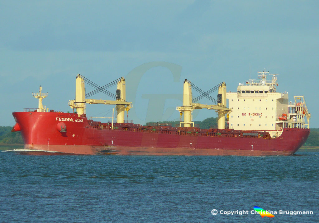 Bulk Carrier FEDERAL RUHR, Elbe 31.08.2018, Bild 2