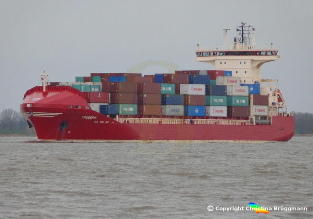 Containerschiff FREDERIK, Elbe 09.03.2019, Bild 5