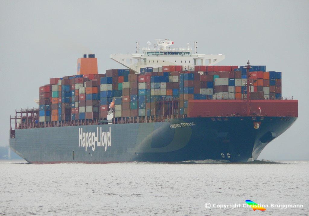 Containerschiff HAMBURG EXPRESS, Elbe 29.03.2017, BILD 1