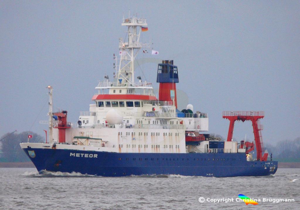 Forschungsschiff METEOR, Elbe 13.11.2018,  BILD 1