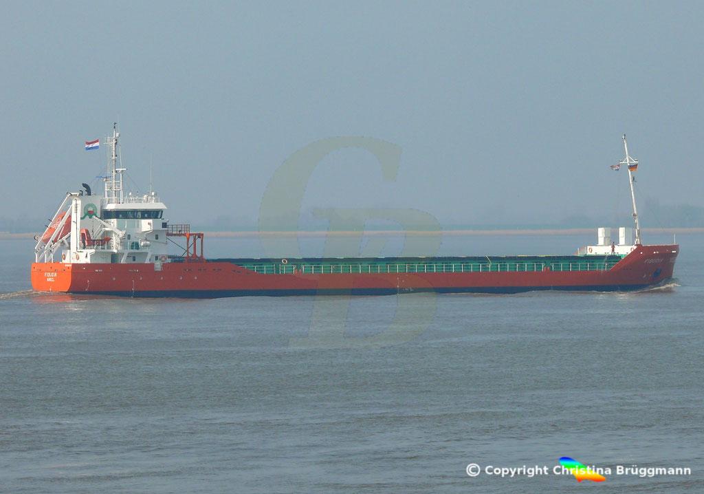 Genral Cargo Schiff FIDUCIA, Elbe 06.04.2019,  BILD 2