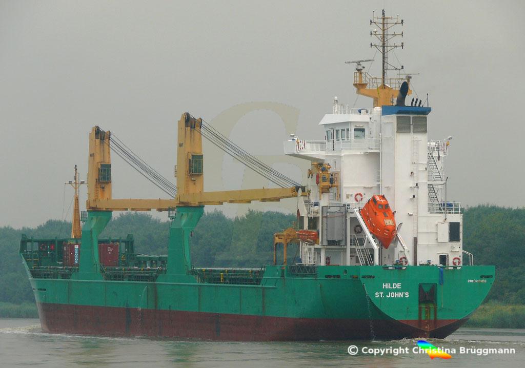 Mehrzweckfrachter HILDE, Nord-Ostsee Kanal 10.06.2018,  BILD 4