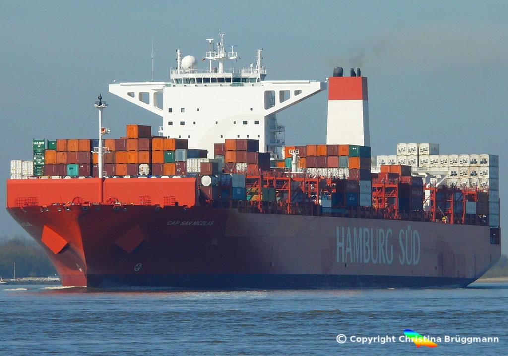 Containerschiff CAP SAN NICOLAS, Elbe 27.03.2017, Bild 2