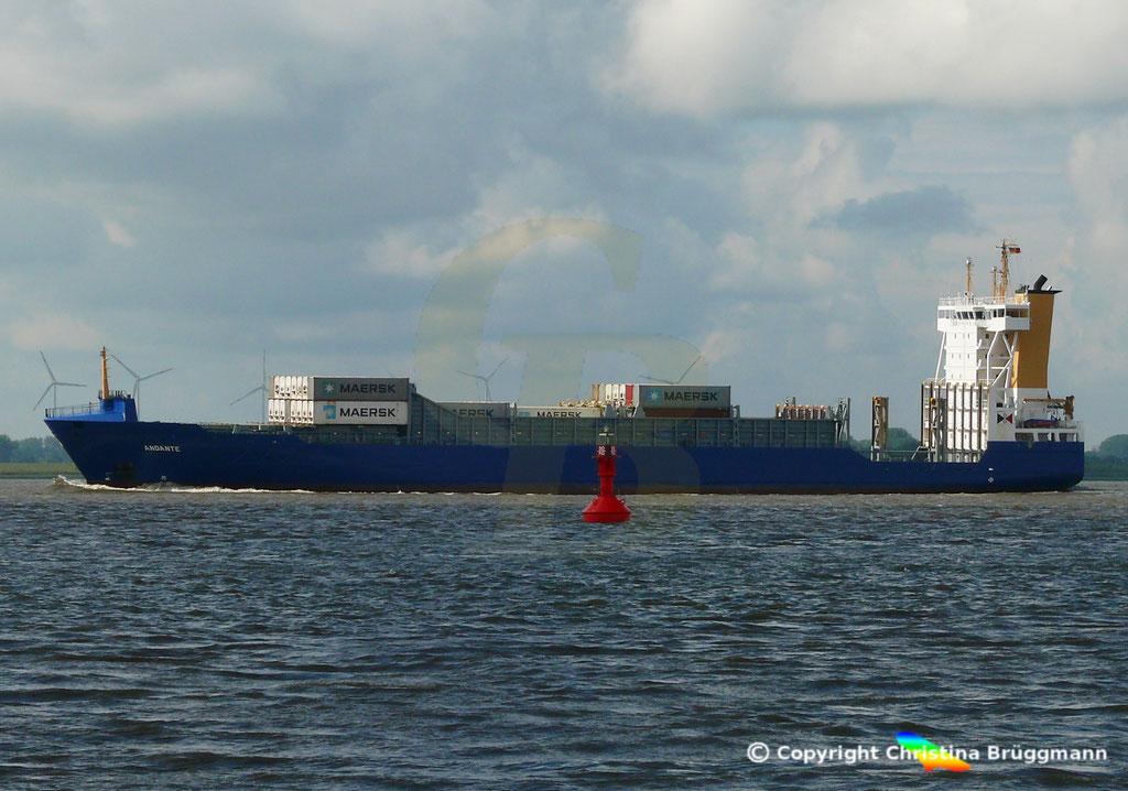 Containerschiff (Feeder) ANDANTE, 07.09.2018, Bild 3