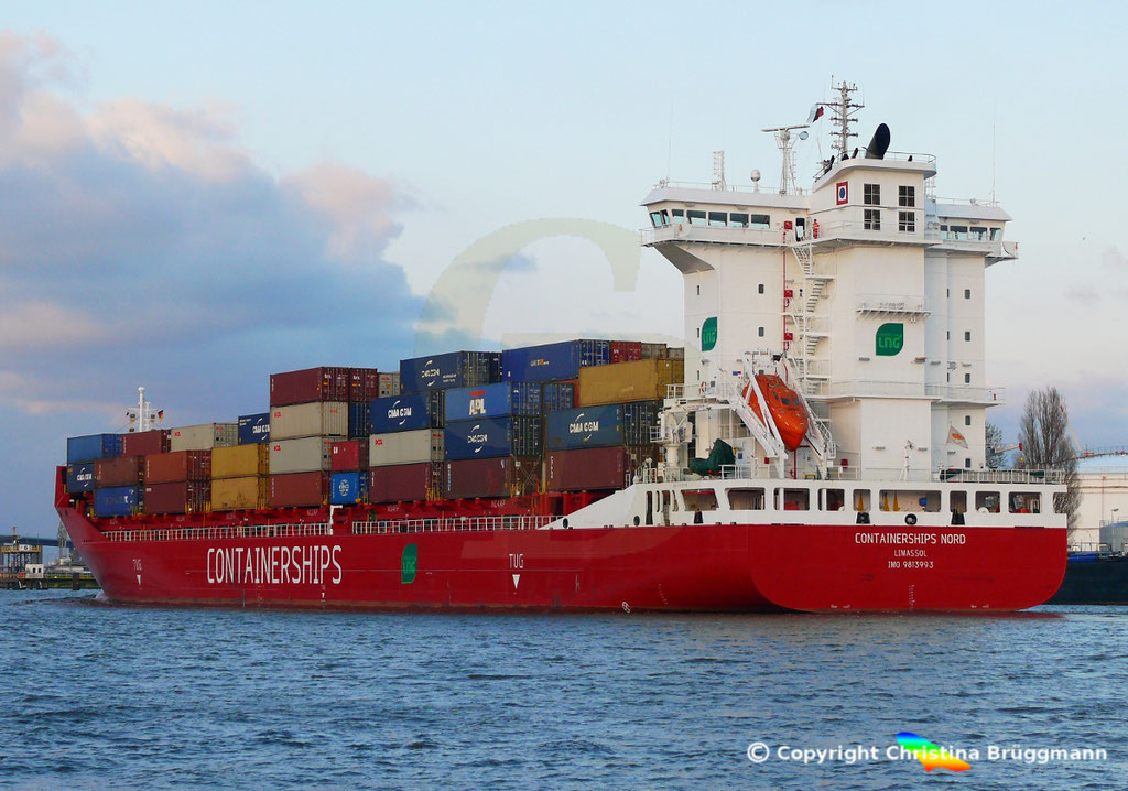 LNG Containerschiff CONTAINERSHIPS NORD, NOK 13.04.2019,   BILD 8