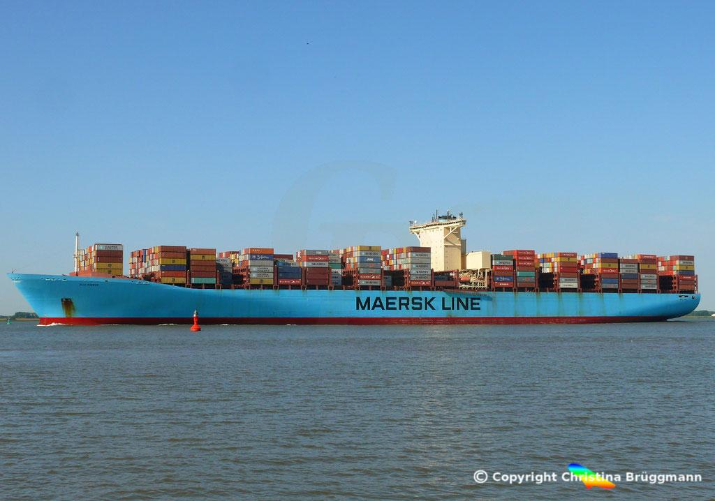 Containerschiff ELLY MAERSK, Elbe 07.08.2018,  BILD 4