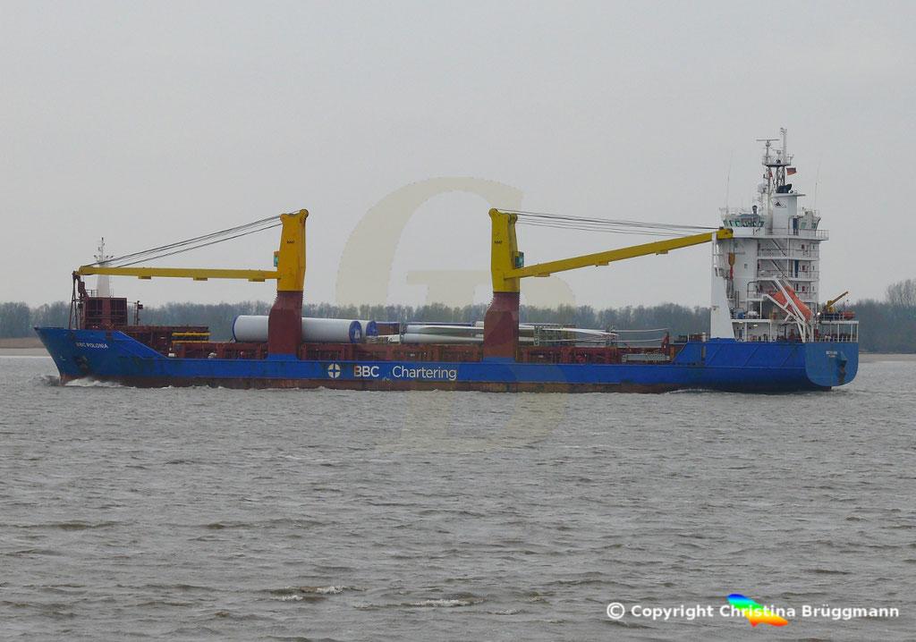 Schwergutfrachter BBC POLONIA, Elbe 06.03.2019,  BILD 5