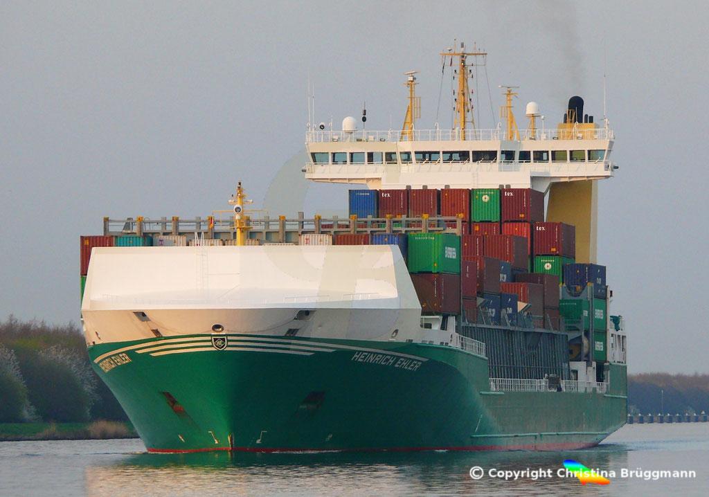 Containerschiff HEINRICH EHLER, NOK 07.04.2019, Sietas TYP 178,  BILD 1