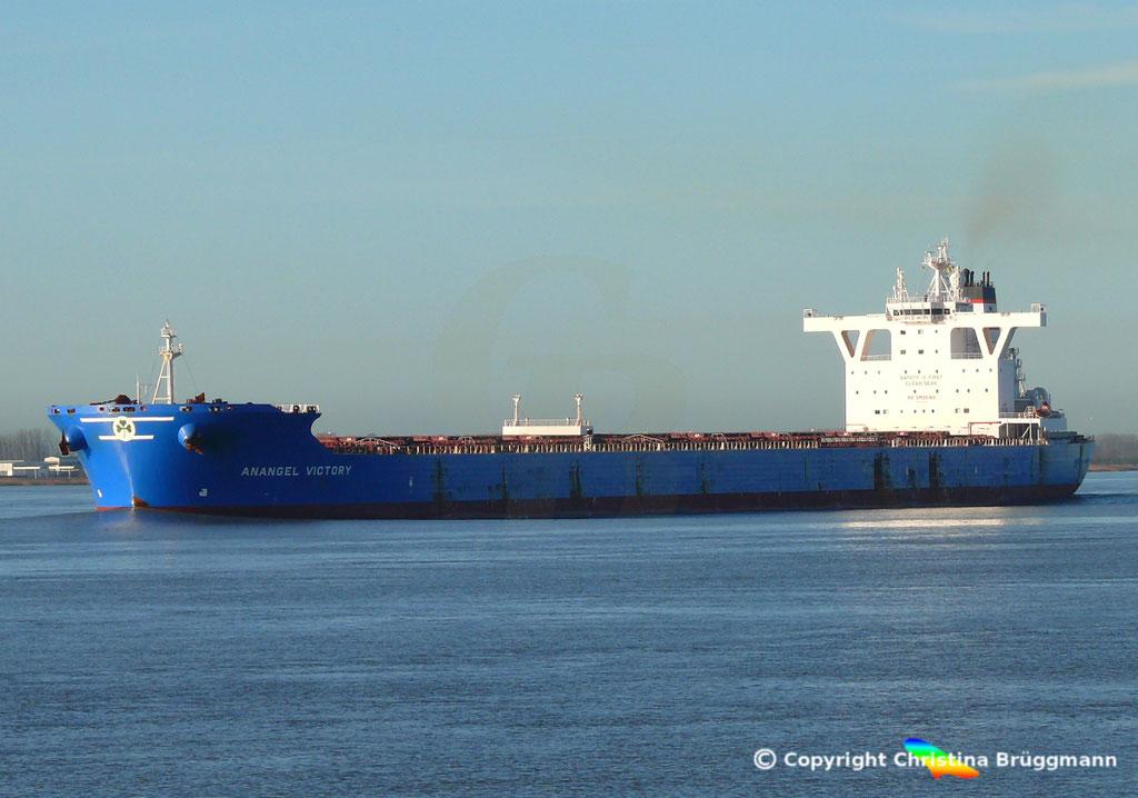 Bulk Carrier ANANGEL VICTORY, Elbe 03.01.2019, BILD 3