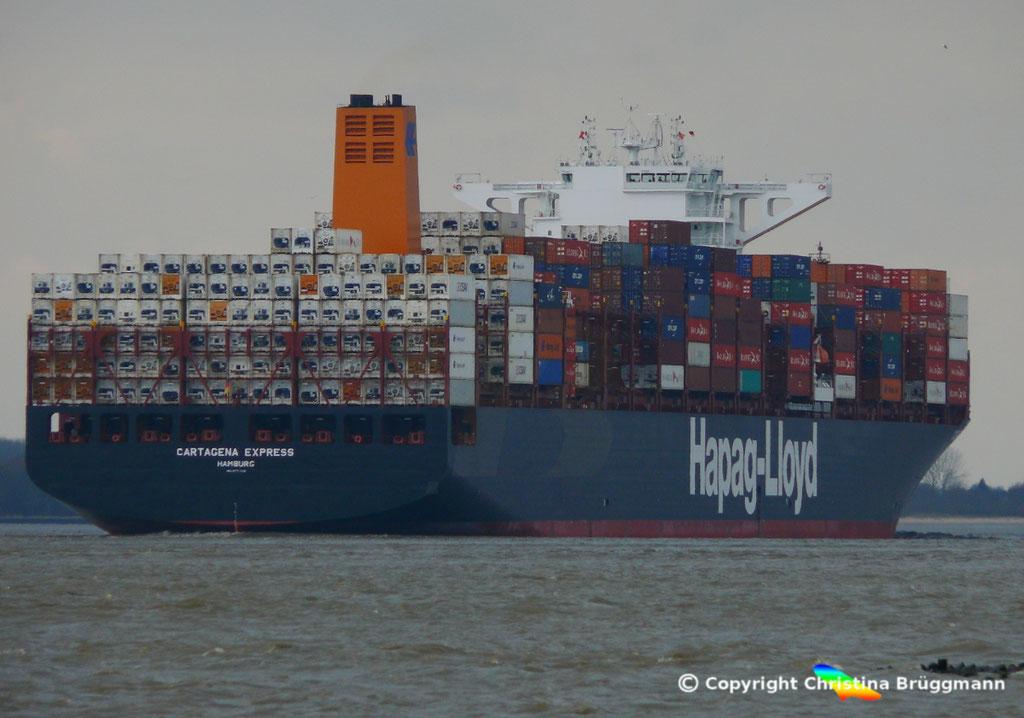Containerschiff CARTAGENA EXPRESS, Elbe 05.03.2017, BILD 7