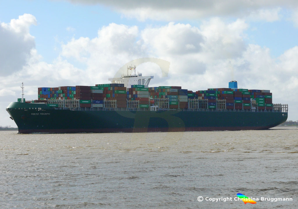 Containerschiff TOKYO TRIUMPH, Elbe 19.03.2019 / BILD 10