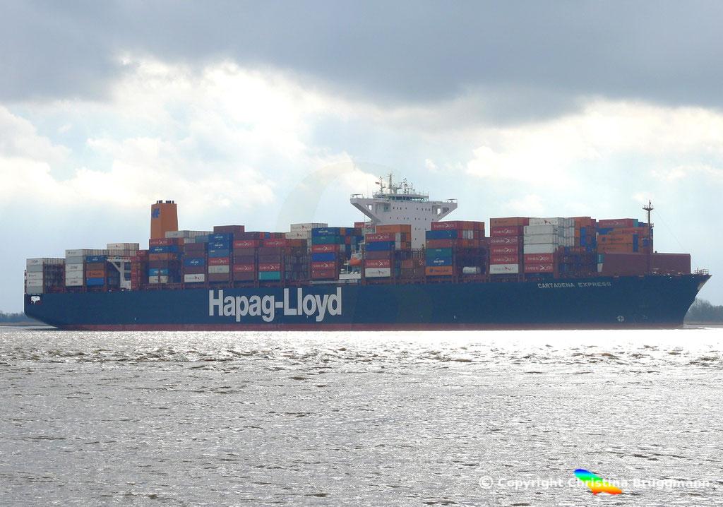 Containerschiff CARTAGENA EXPRESS, Elbe 05.03.2017, BILD 3