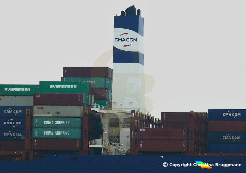Containerschiff APL FULLERTON, nach Upgrade, Elbe 20.03.2019,  BILD 7
