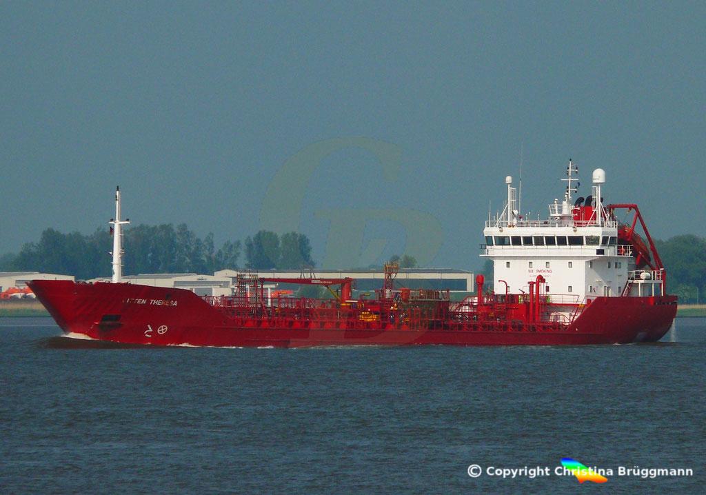 Tanker BITTEN THERESA, Elbe 13.05.2018,  BILD 2