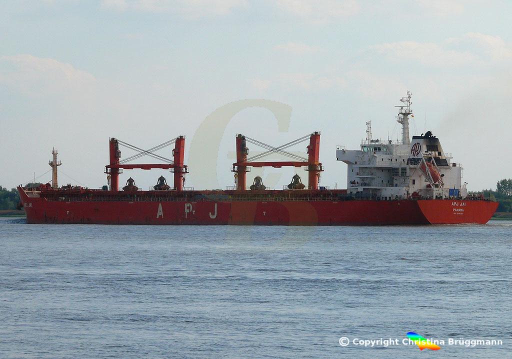 Bulk Carrier APS JAI, Elbe 14.09.2018, Bild 4