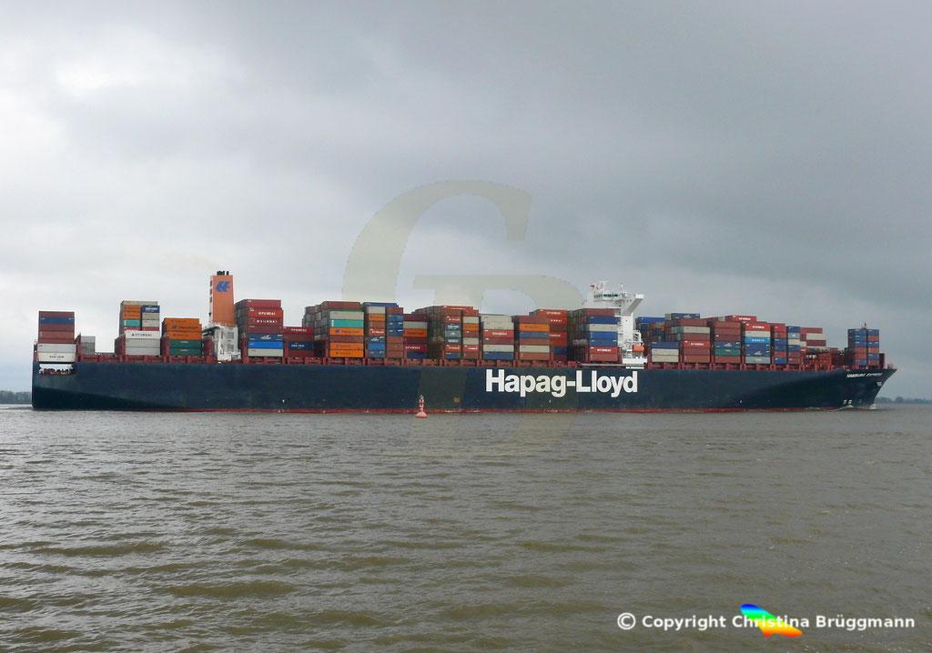 Containerschiff HAMBURG EXPRESS, Elbe 29.03.2017, BILD 4