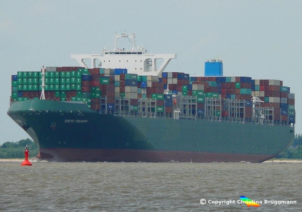 Containerschiff TOKYO TRIUMPH, Elbe 06.06.2017 / BILD 1