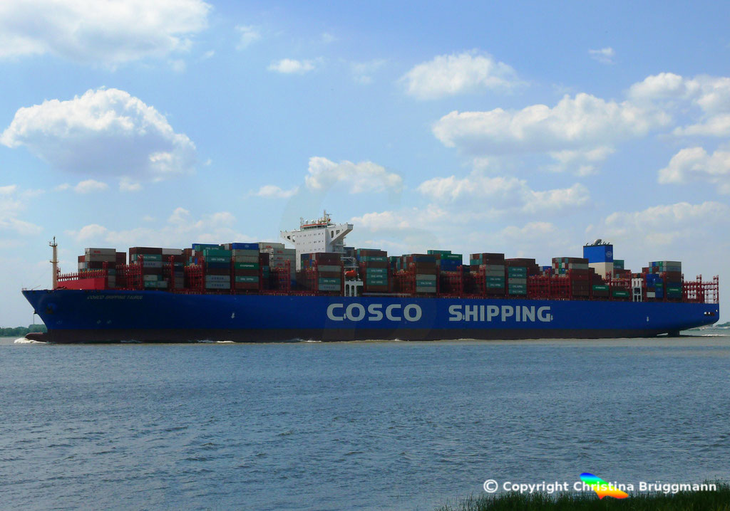 Containerschiff COSCO SHIPPING TAURUS, 25.05.2018, BILD 4