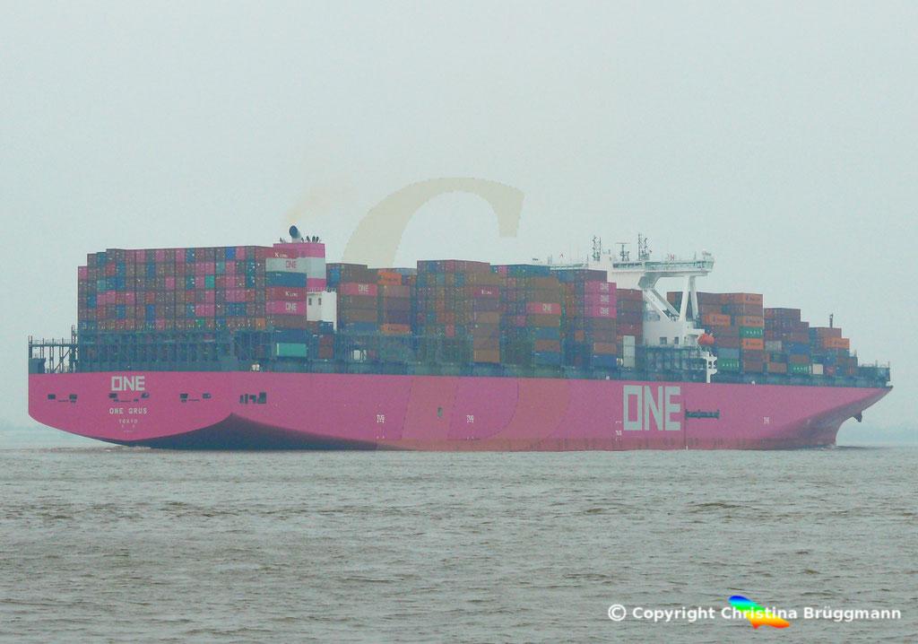 Containerschiff ONE GRUS, Elbe 20.03.2019,  BILD 6