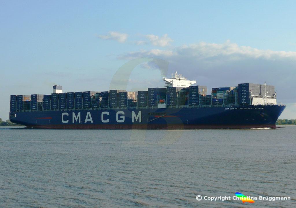 Containerschiff CMA CGM ANTOINE DE SAINT EXUPERY, 40 Jahre CMA CGM, 07.09.2018, Bild 5