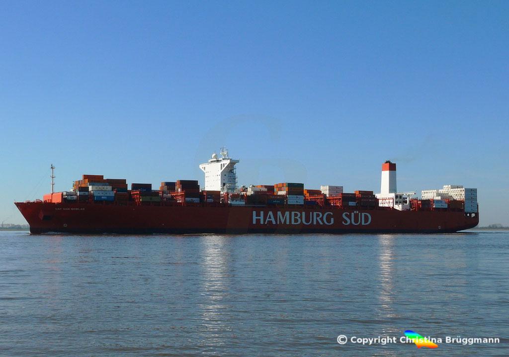 Containerschiff CAP SAN NICOLAS, Elbe 27.03.2017, Bild 6