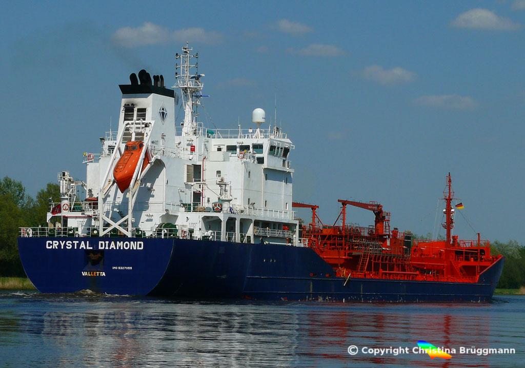 Chemie- /Öltanker CRYSTAL DIAMOND, Nord Ostsee Kanal 09.05.2018,  BILD 3