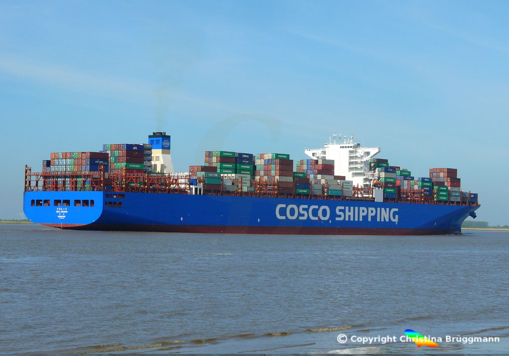 Containerschiff CSCL URANUS, Elbe 11.05.2017, BILD 5