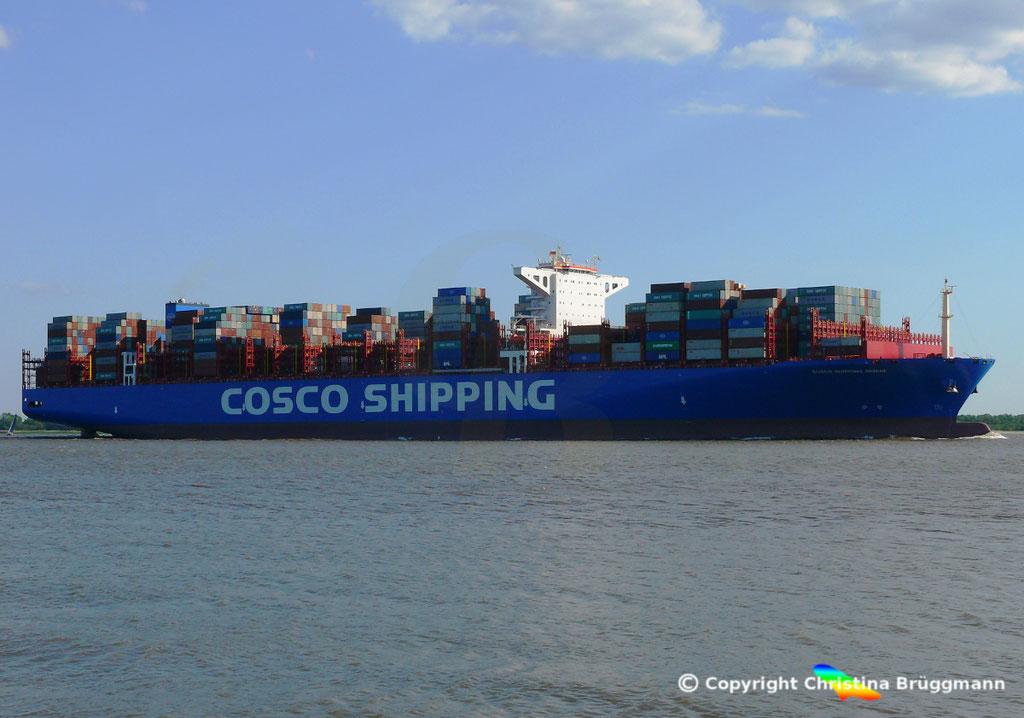 Containerschiff COSCO SHIPPING GEMINI, 21.05.2018, BILD 3