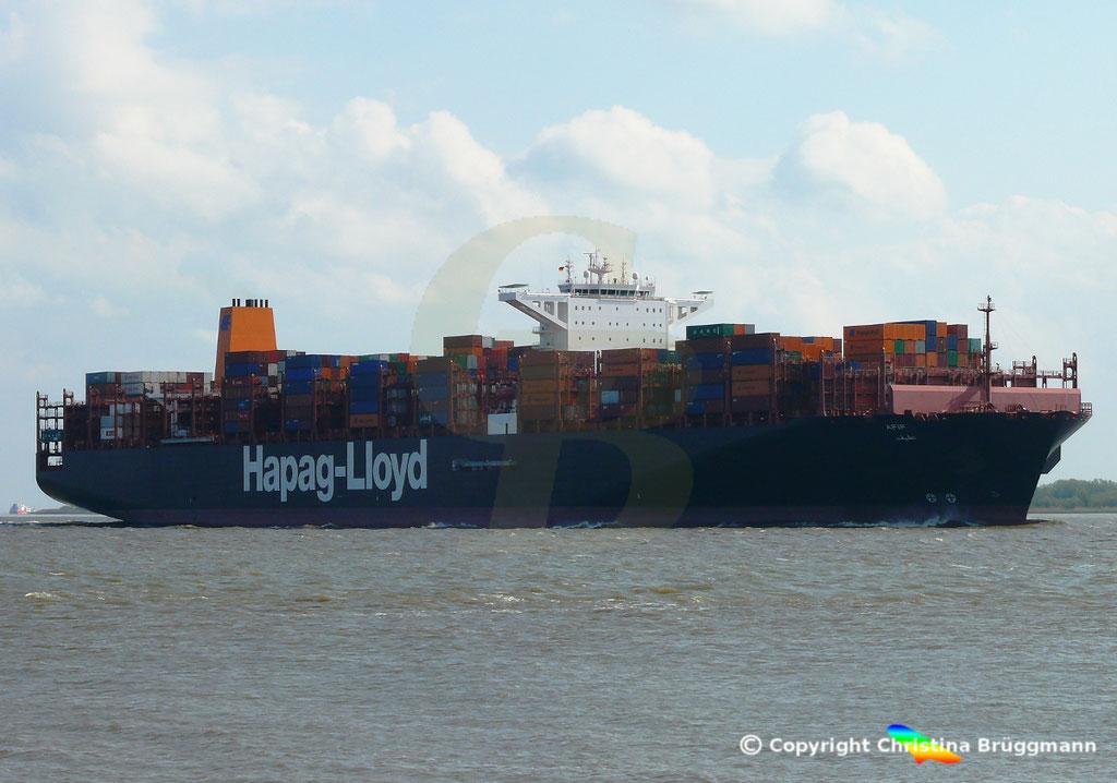 Containerschiff AFIF, Elbe 23.04.2018,  BILD 3