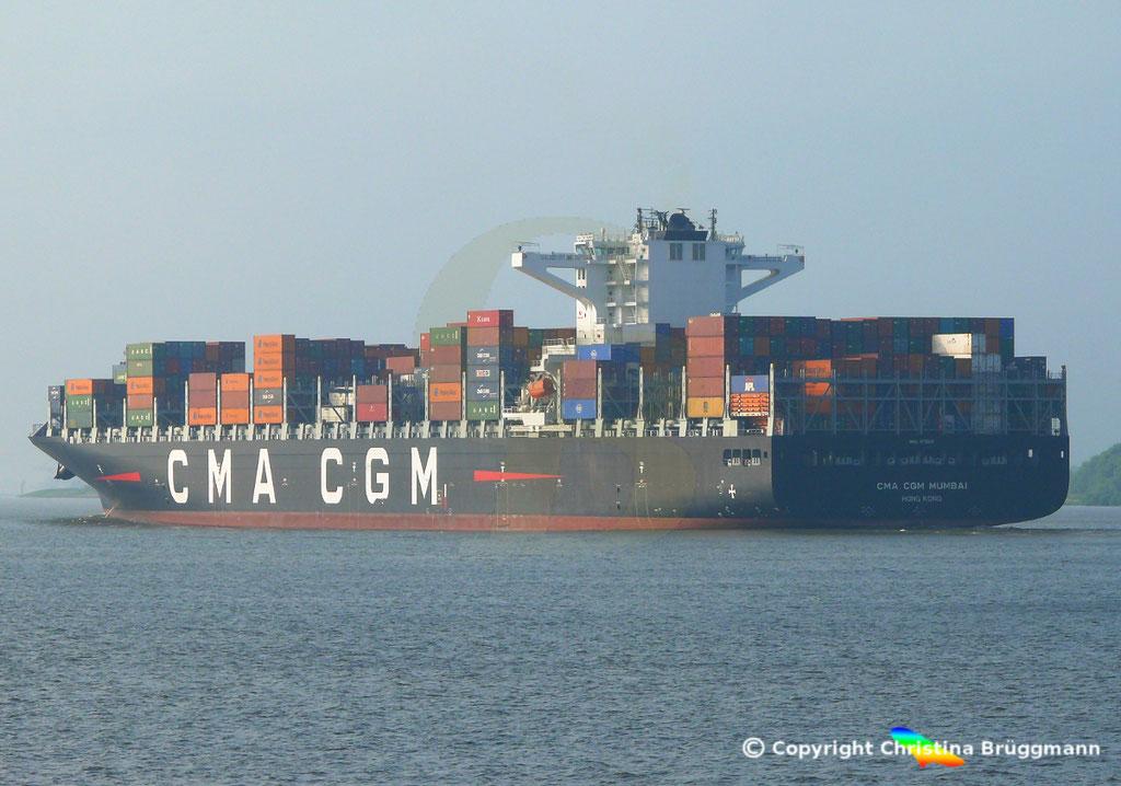 Containerschiff CMA CGM MUMBAI, Elbe 18.07.2018,  BILD 5