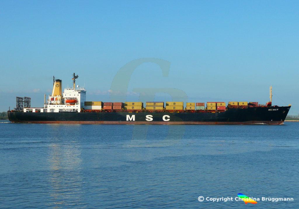 Containerschiff MSC MALIN, Elbe 10.04.2019,  BILD 5