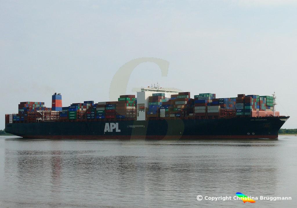 Containerschiff APL SINGAPURA, Elbe 20.07.2018,  BILD 4