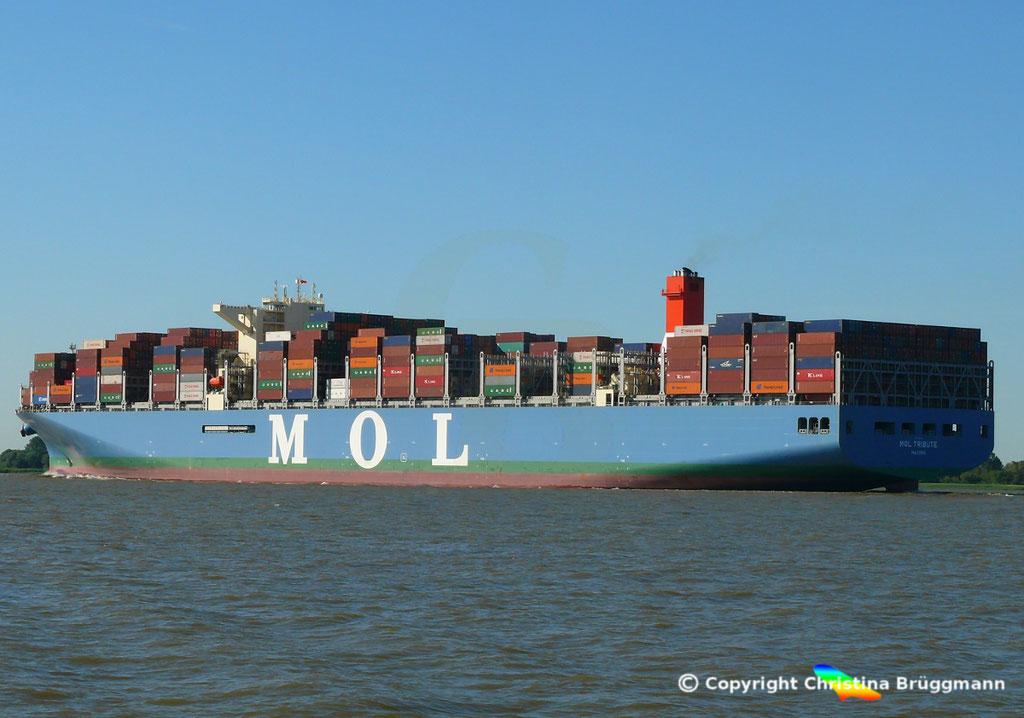 Containerschiff MOL TRIBUTE, Elbe 06.06.2018, BILD 5