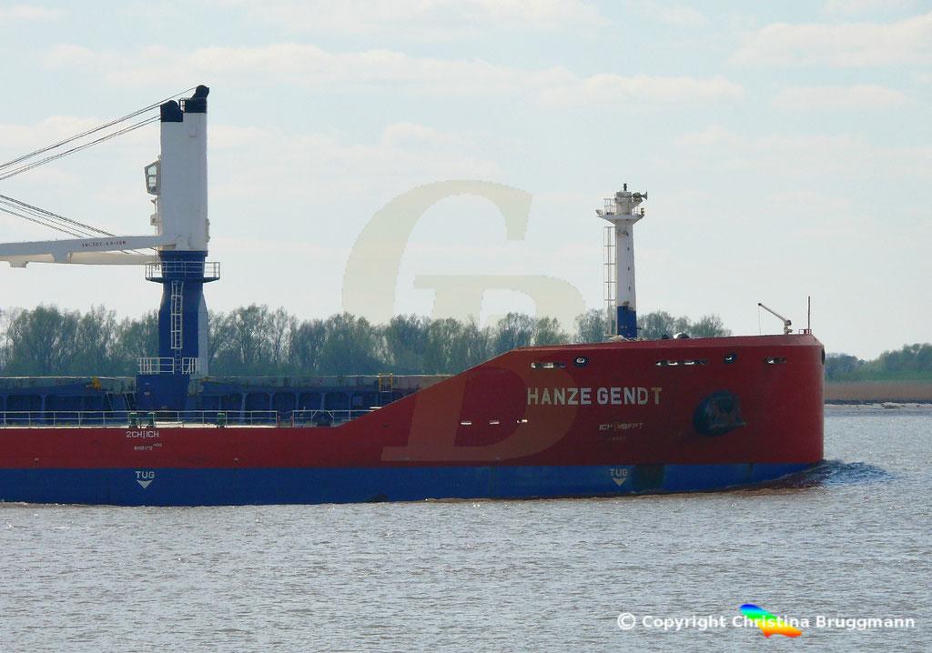 Bulk Carrier HANZE GENDT, Elbe 10.04.2019,  BILD 4