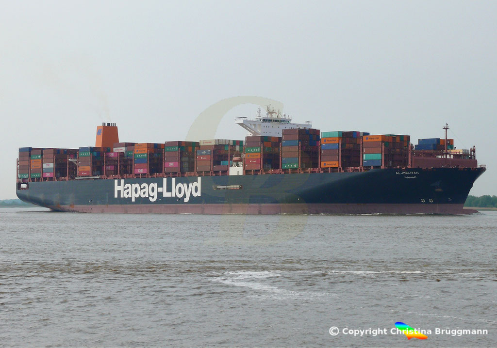 Containerschiff AL JMELIYAH, Elbe 08.05.2019 /  BILD 3