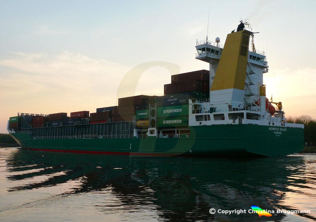 Containerschiff HEINRICH EHLER, NOK 07.04.2019, Sietas TYP 178,  BILD 6