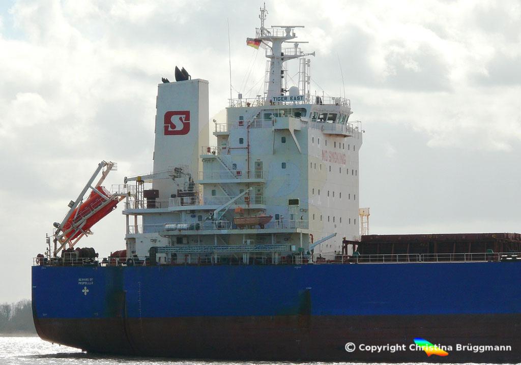 Bulk Carrier TIGER EAST, Elbe 19.03.2019,  BILD 4
