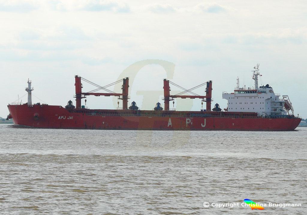 Bulk Carrier APS JAI, Elbe 14.09.2018, Bild 3