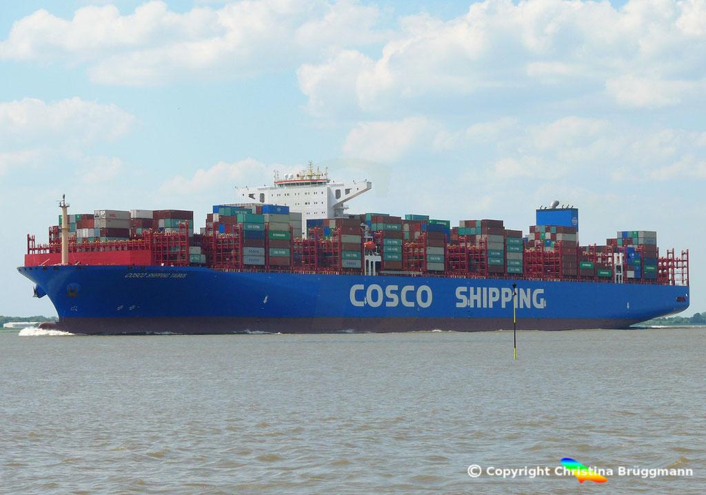 Containerschiff COSCO SHIPPING TAURUS, 25.05.2018, BILD 3