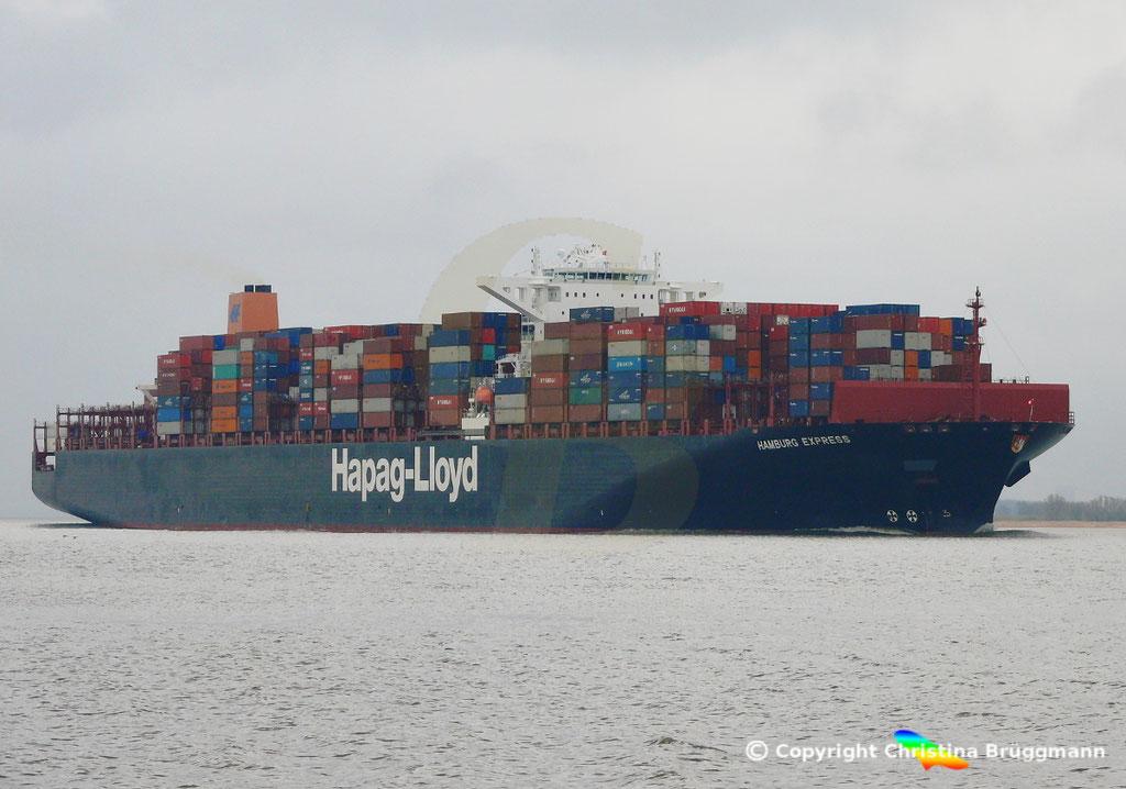 Containerschiff HAMBURG EXPRESS, Elbe 29.03.2017, BILD 2