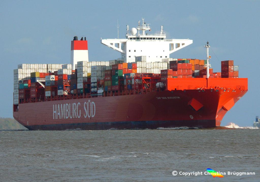 CAP SAN AUGUSTIN auf der Elbe 27.04.2015, BILD 2