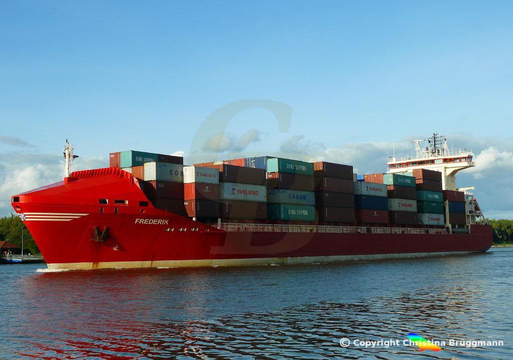 Containerschiff FREDERIK, 25.09.2018, Bild 3