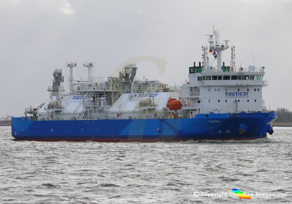 LNG Bunker-Tanker KAIROS; Elbe 09.02.2019,  BILD 2