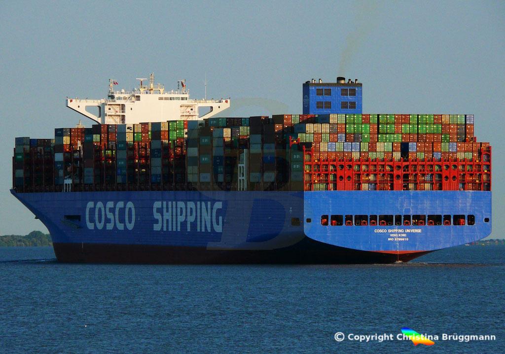Containerschiff COSCO SHIPPING UNIVERSE, Elbe 19.07.2018, BILD 6