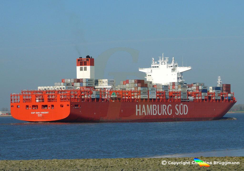 Hamburg Süd Containerschiff CAP SAN VINCENT, Elbe 17.04.2019,  BILD 8