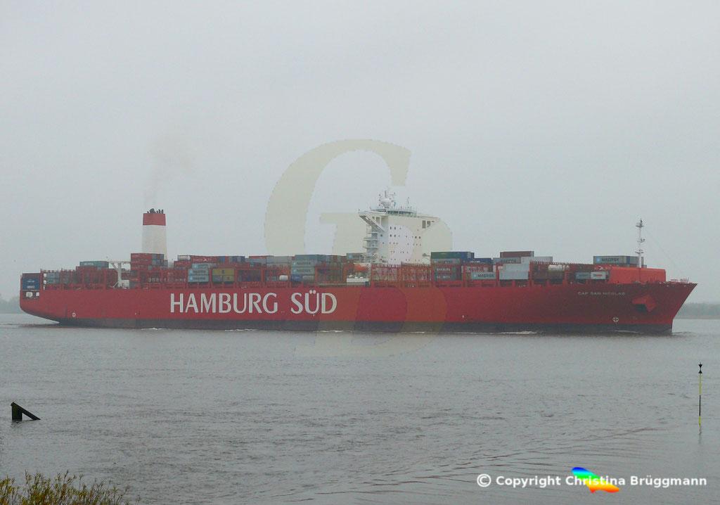 Containerschiff CAP SAN NICOLAS, Elbe 05.11.2018, Bild 8