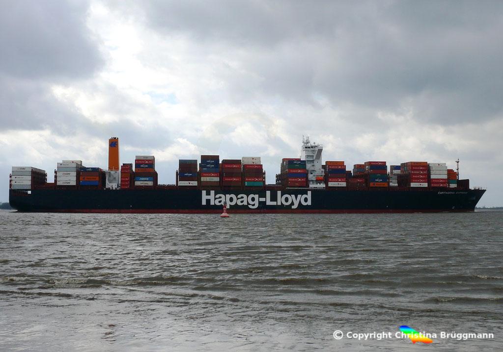 Containerschiff CARTAGENA EXPRESS, Elbe 05.03.2017, BILD 4