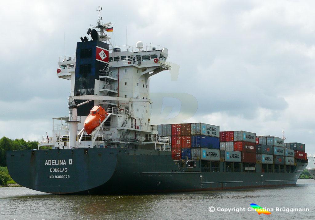 Containerschiff ADELINA D, Nord-Ostsee Kanal 22.06.2018,  BILD 3